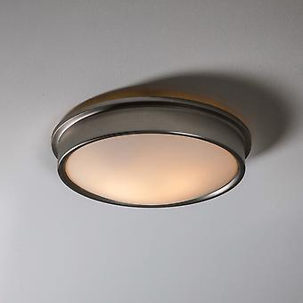 Garden Trading Ladbroke Bathroom Ceiling Light In Satin Nickel