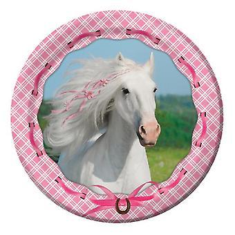 Cavallo bianco piastra 23Ø pezzo 8 bambini compleanno tema festa festa compleanno
