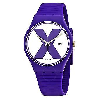 Swatch XX-RATED paarse siliconen Unisex horloge SUOV401