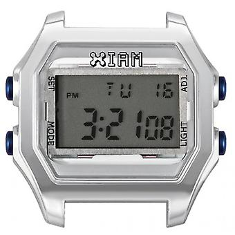 Watch I Am The Watch IAM-121 - Bo tier Aspect M tal Silver Blue Buttons / Horn Gap 20 mm