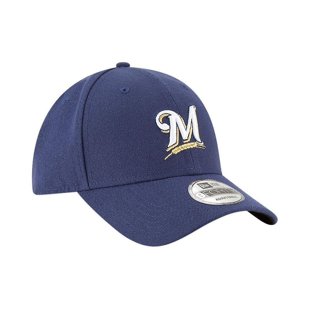 New Era and The League Adjustable 9Forty Curve Cap ~ MILWAUKEE BREWERS