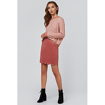 Louche Alicja Cord Mini Skirt Pink