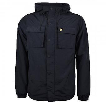 Lyle & Scott Navy Nylon Zip Up Hooded Jacket JK1018V