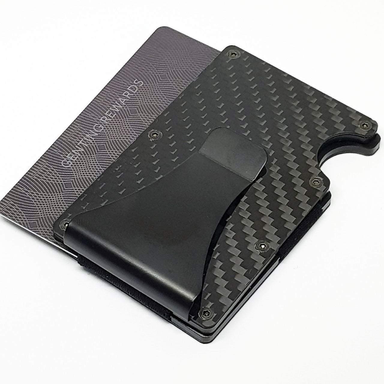 Pink rfid safe credit card holder & money clip wallet