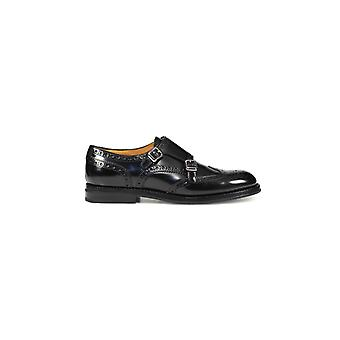 CHURCH'S LANA R BLACK MONKSTRAP LACE UP