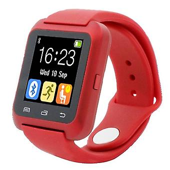 Stuff Certified® Original U80 Smartwatch Smartphone Fitness Sport Activity Tracker Watch OLED Android iPhone Samsung Huawei Red