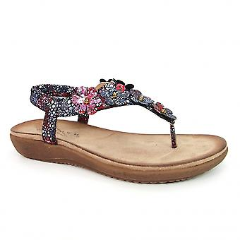 Lunar Katia Toe Post Blommig sandal