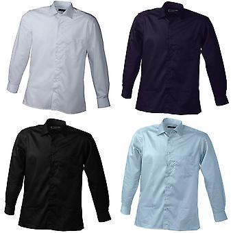 James and Nicholson Mens Long Sleeve Business Shirt