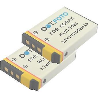 2 x Dot.Foto Kodak KLIC-7003 remplacement batterie - 3.7V / 1050mAh
