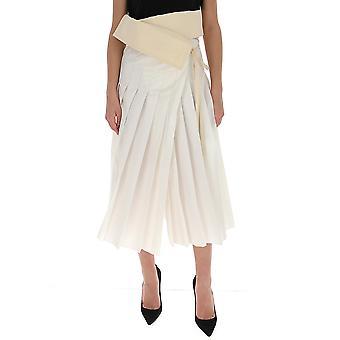 Moncler Genius 2d702c0405034 Women's White Cotton Skirt