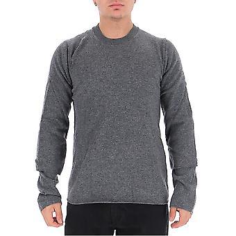 Comme Des Garçons Shirt W275073 Men's Grey Wool Sweater