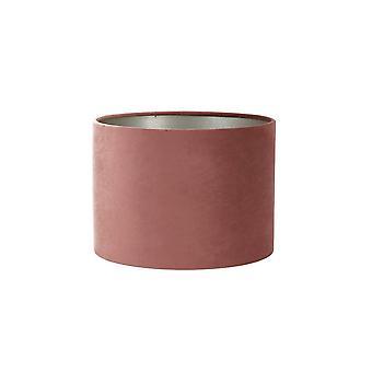 Licht & Living Zylinder Schatten 40x40x30cm Velours Dusky Pink