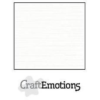 CraftEmotions linnen karton 10 Sh wit 27x13,5cm 250gr / LHC-02