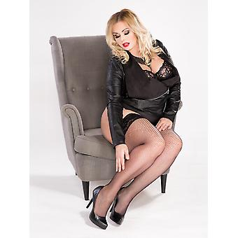 Lida Plus Size Fishnet Hold Ups