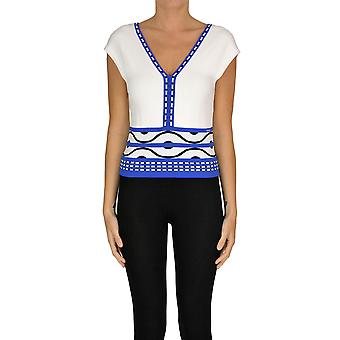 Nenette Ezgl266133 Women's White/blue Viscose Blouse