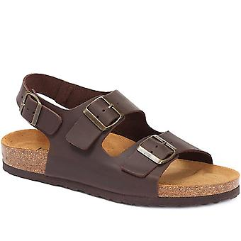 Jones Bootmaker Mens Full Lederen Sandaal