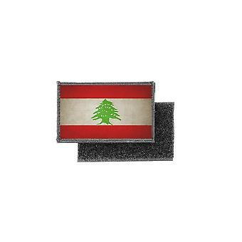 Patch ecusson skriver ut vintage flagga Libanon badge