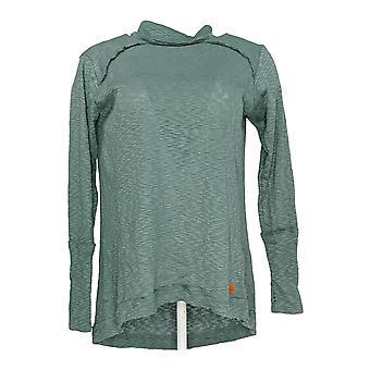 Peace Love World Women's Sweater Slub Knit Turtleneck Green A296693