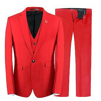 Sencillo elegante Business Casual Allthemen Varonil Slim Fit traje de 3 piezas