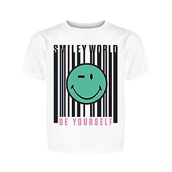 SmileyWorld Be Yourself Barcode Happy Face Girl's T-shirt