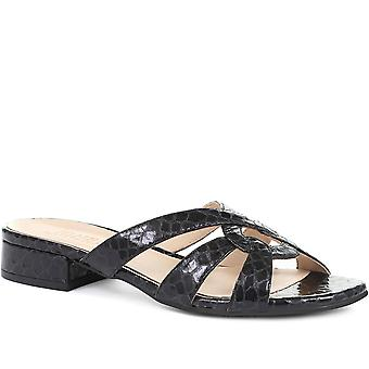Jones Bootmaker Womens Marnie Leather Mule Sandals
