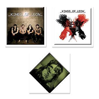 Kings of Leon 3 x  Fridge Magnet band logo new official Gift set