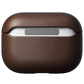 Genuine Leather Case for Apple AirPods Pro Wireless Charging- Nomad, Brown