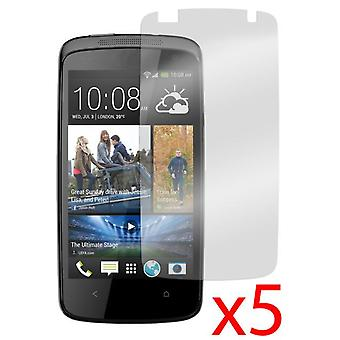 5x מבטל בוהק מסך מאט מגן מכסה עבור HTC תשוקה 500