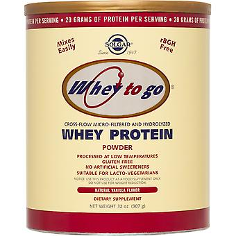 Solgar Whey To Go Protein Powder Natural Vanilla Flavor 32 oz