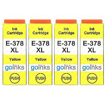 4 Gelbe Tintenpatronen ersetzen Epson 378XLY Compatible/Non-OEM von Go Inks
