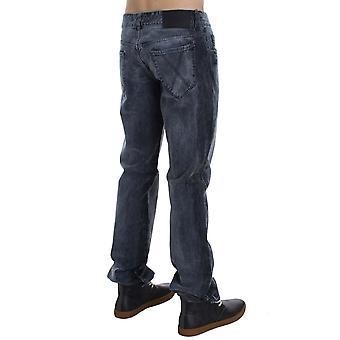 EXTE Gray Wash Cotton Regular Fit Jeans