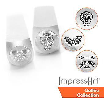 ImpressArt Gothic Design Metal Stamping, Metal Stamps 6mm Size