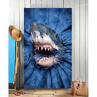 Wild star hearts - shark rip-thru - beach towel
