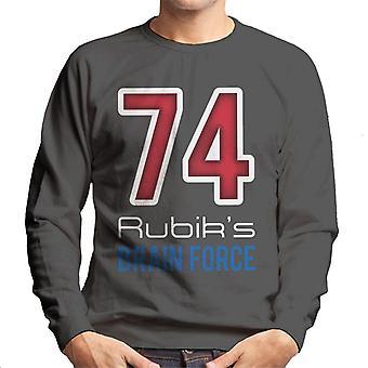 Rubik's 74 hersenen kracht mannen Sweatshirt