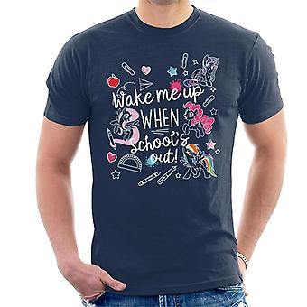 My Little Pony Wake Me Up When Schools Out Men's T-Shirt