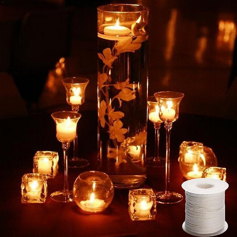 White Candle Wick - Cotton Candle Woven Wick For Diy Candle Making   Fruugo TR