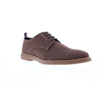 Ben Sherman Birk Plain Toe  Mens Brown Canvas Low Top Oxfords Shoes