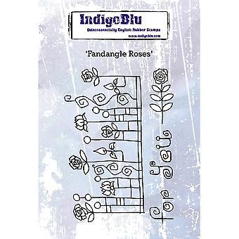 IndigoBlu Fandangle Roses A6 Rubber Stamp