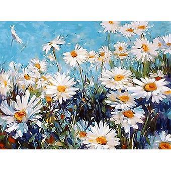 Diy Peinture à l'huile par nombres paysage affiches colorées et imprime inachevée