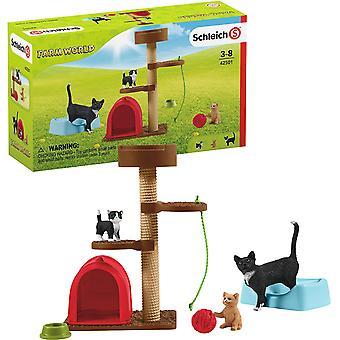 Schleich Farm World speltid för söta katter