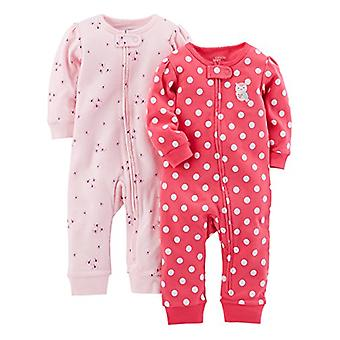 Simple Joys by Carter's Baby Girls' 2-Pack Cotton Footless Sleep and Play, Pi...