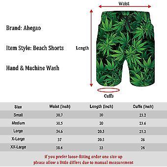 Mesh Liner Board Shortsit miesten Funny Marijuana Graphics Swim Trunks 80s Yout ...