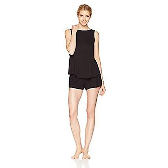 Brand - Mae Women's Sleepwear Sleeveless Split Back Top and Short Paja...