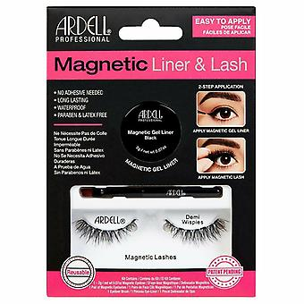 Ardell Magnetic Liner and Lash Kit - Demi Wispies - Waterproof & Latex Free