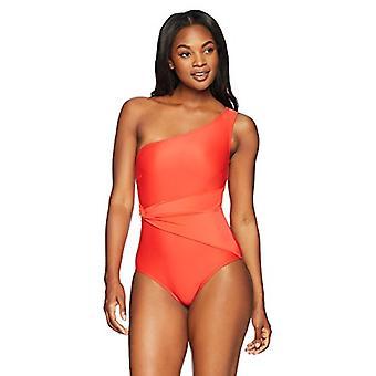 Brand - Coastal Blue Women's One Piece Swimsuit, Ladybug, XL