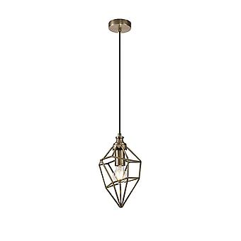 Luminosa Belysning - Lille Bur Loft Vedhæng, 1 x E27, Antik Messing