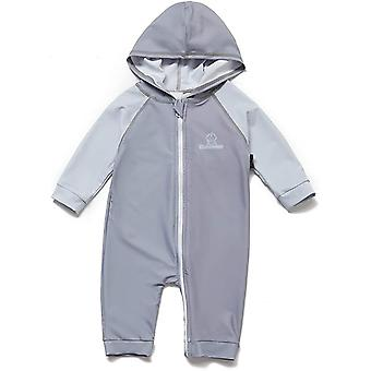 Bonverano Baby Boys UPF 50+ Sun Protection 3/4 Sleeves Zipper Sunsuit Hooded