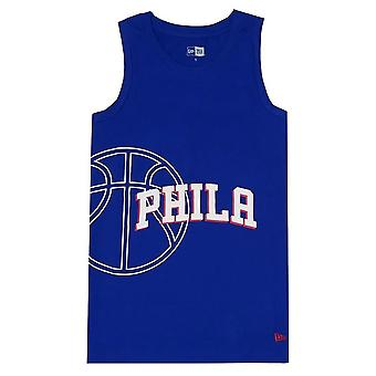 New Era Nba Philadelphia 76ERS 12033476 basketball all year men t-shirt