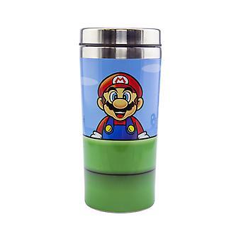 Warp Pipe Travel Mug Insulated Coffee & Tea Flask Easy Clean and Keep Drinks Hot