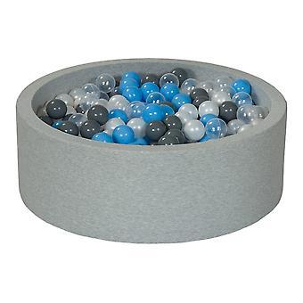 Stopka 90 cm z 450 kulkami z pereł, przezroczysta, szara i jasnoniebieska